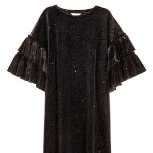 H&M Velvet Sparkled Black Mini Dress
